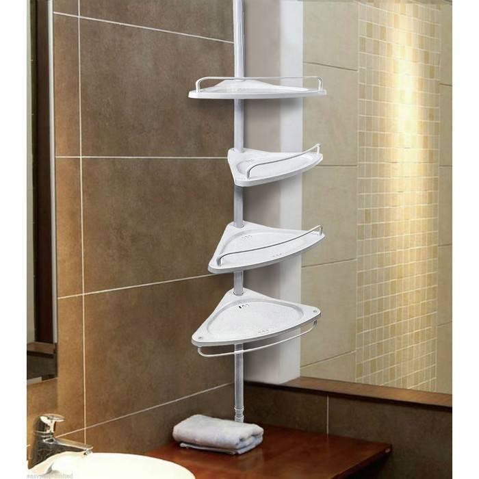 Выбираем полки для ванной комнаты