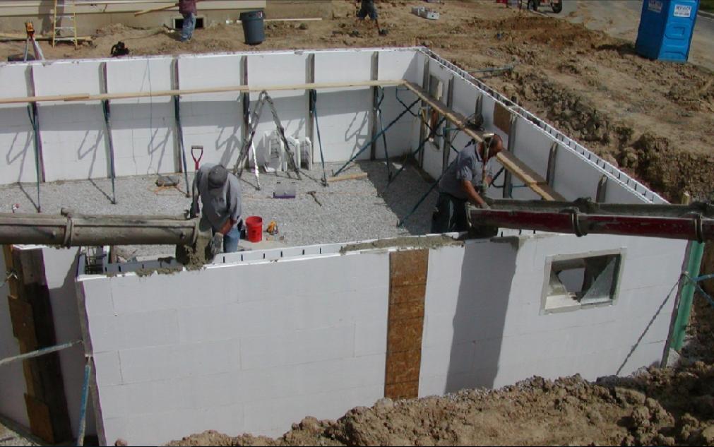 Технология возведения монолитных стен из бетона