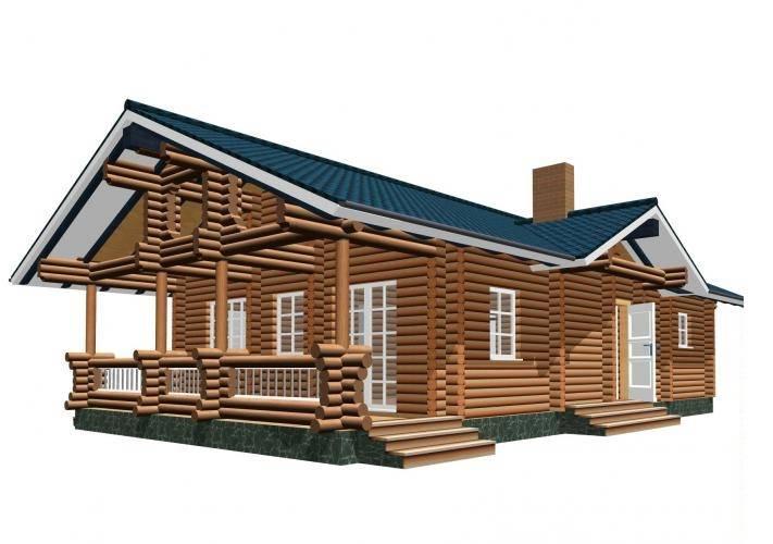 Одноэтажные дома из дерева