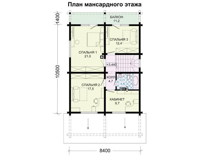 Дом с мансардой: планировка, проект, дизайн и строительство