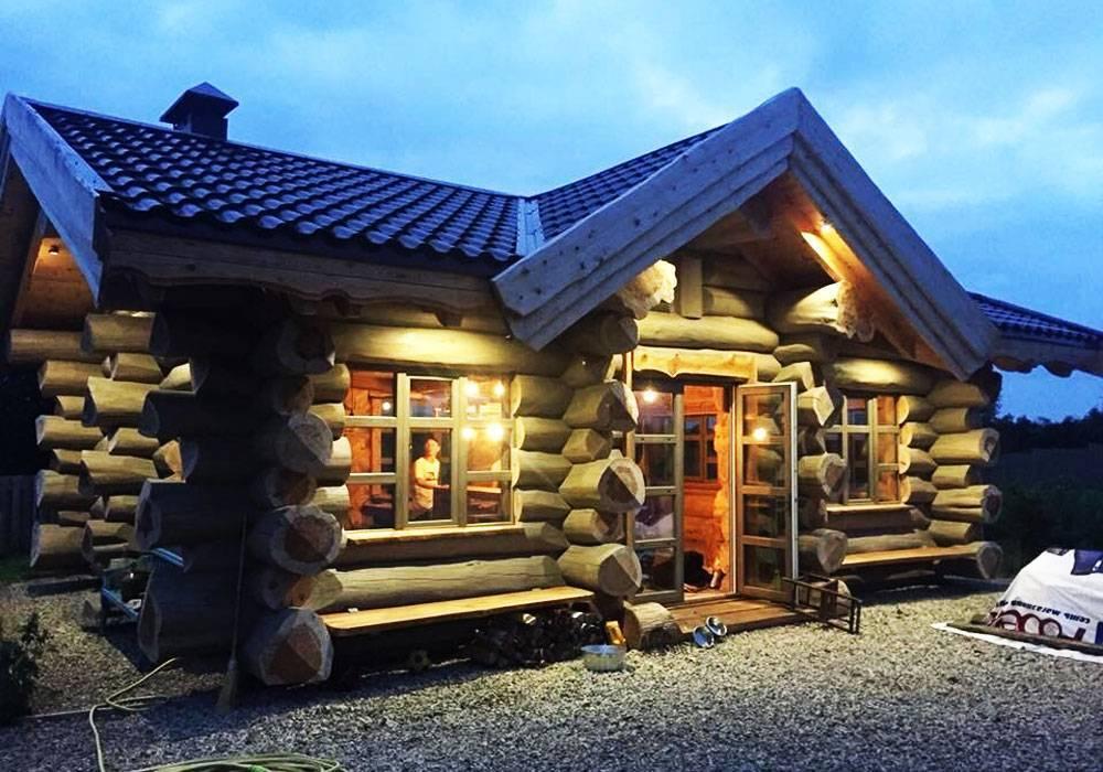 Строительство рубленных домов под ключ от «городлес» (москва). фото строительства домов из рубленного бревна