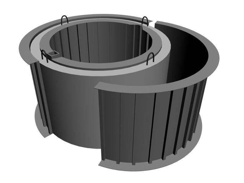 Формы для колодезных колец – фабричные и самодельные