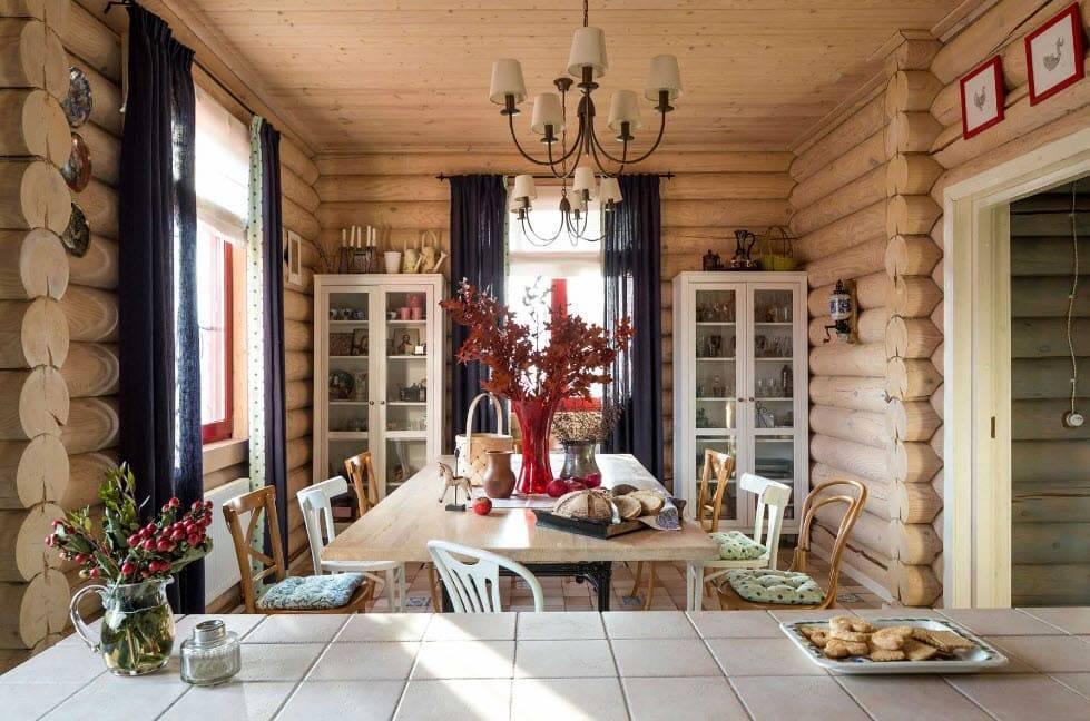Дизайн деревенского дома внутри своими руками (54 фото): интерьер деревянного зала на даче, оформление частного дачного строения