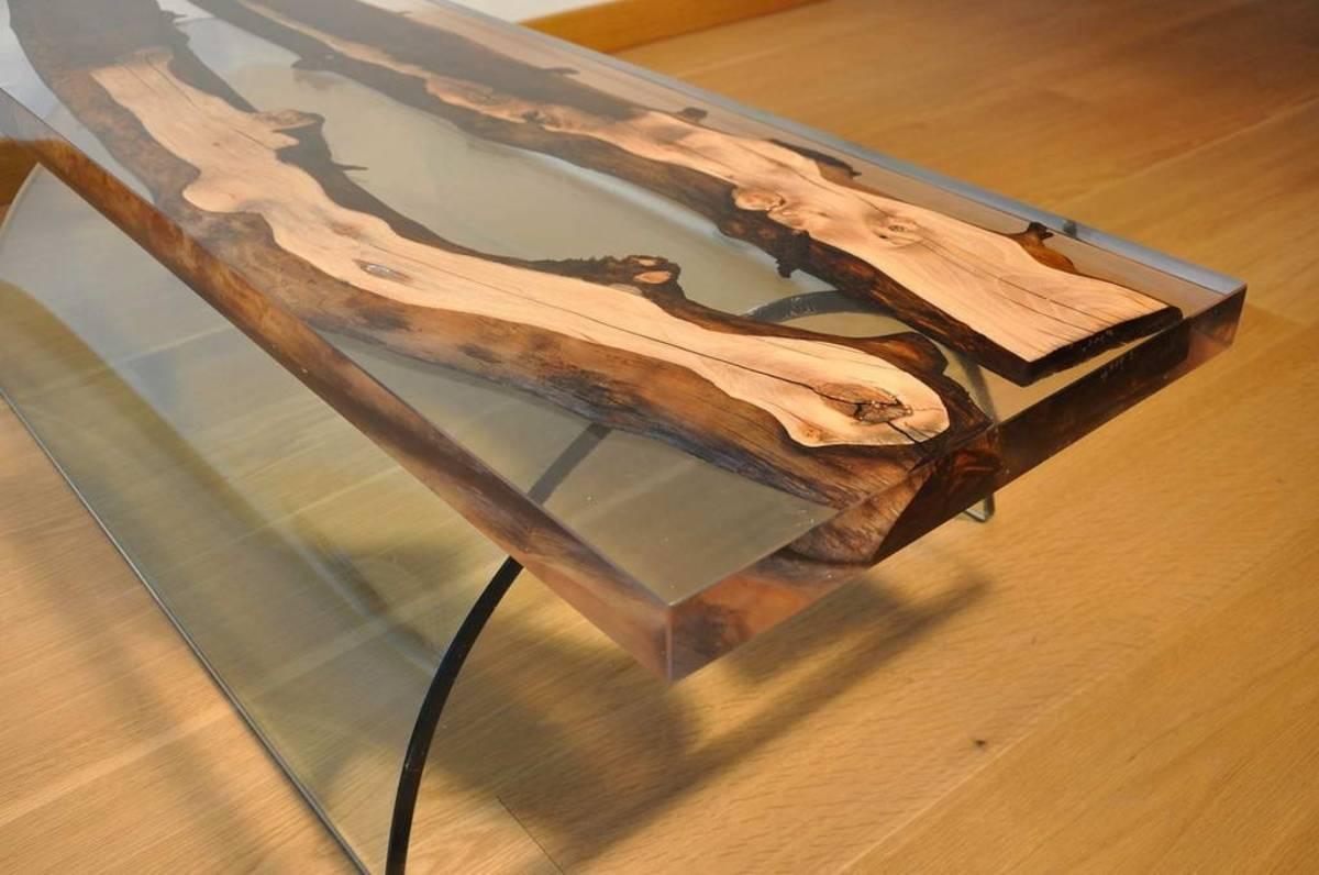 Стол из эпоксидной смолы своими руками: виды конструкций, изготовление и отделка