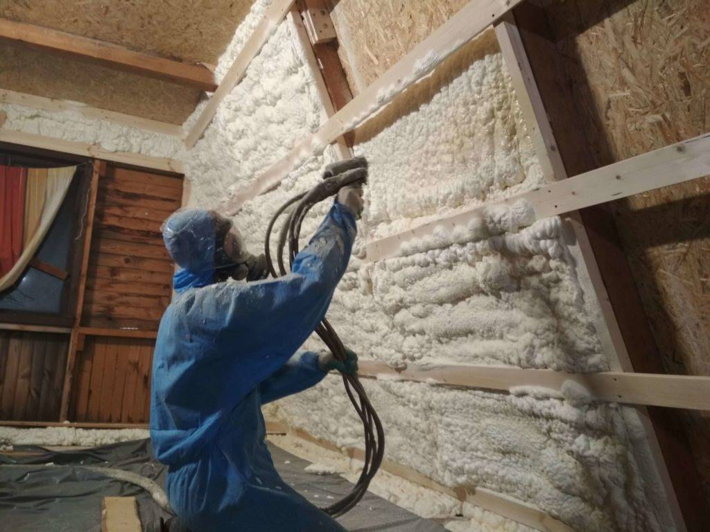 Утепление дома пенополиуретаном в москве. компания «полимер трейд»