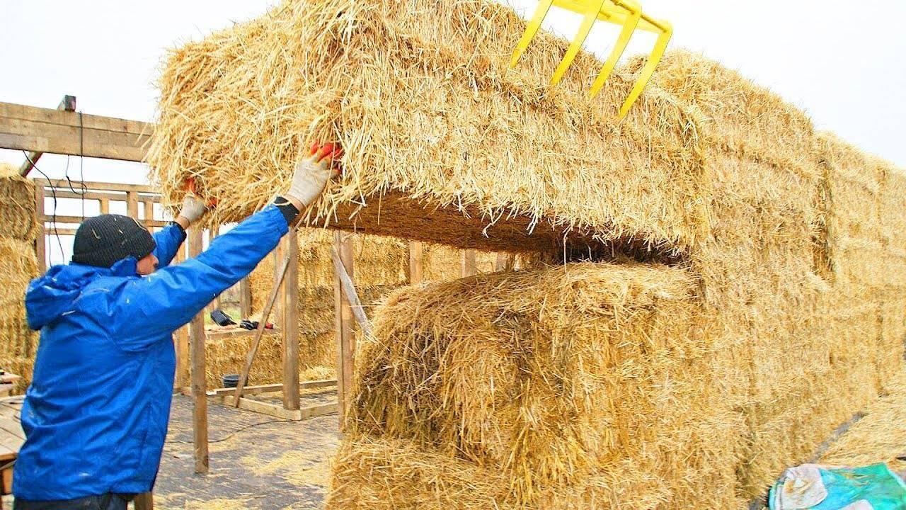 Дом своими руками из соломы - строительство!