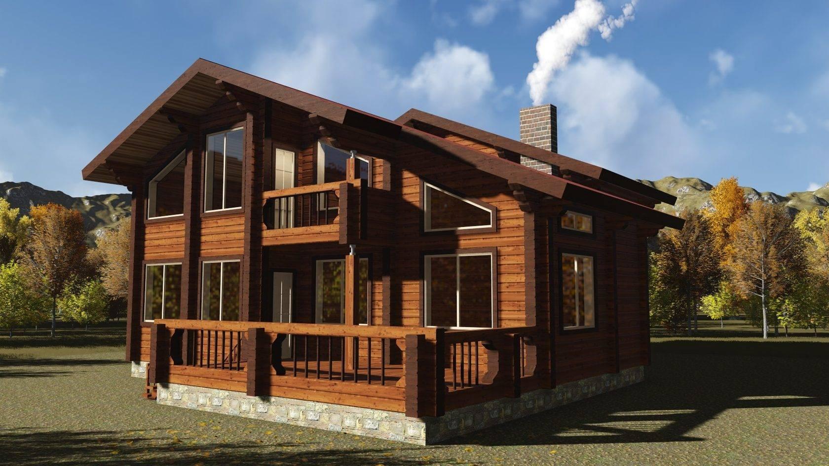 Шале - строительство дома из бруса за 5197040руб под ключ   русский стиль