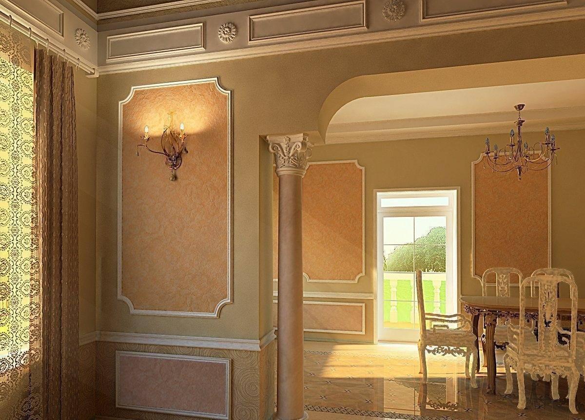 Лепнина на стенах: виды, используемые материалы, создание лепнины своими руками