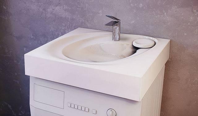 Установка раковины над стиральной машиной – практичное решение для малогабаритных квартир: пошаговая инструкция по установке + полезные советы как пра