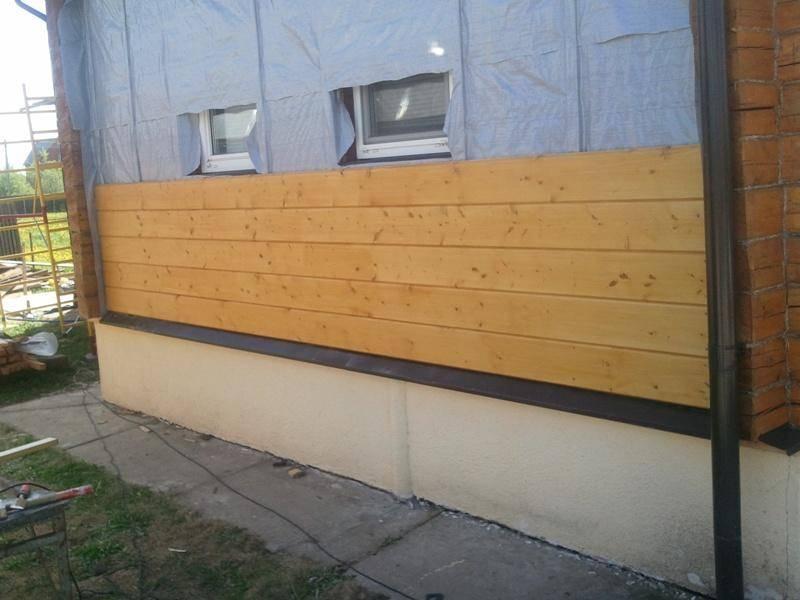 Как закрепить имитацию бруса снаружи дома