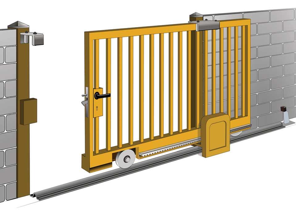Конструкция консольных откатных ворот с верхней балкой, 19 фото с процессом изготовления и примерами работ