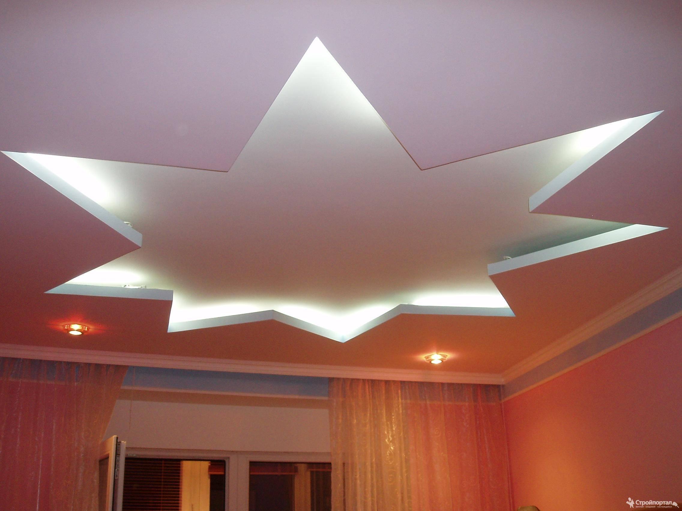 Потолок из гипсокартона — что может быть проще?