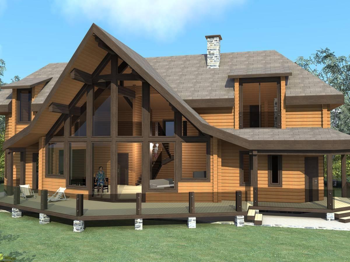 Дом деревянный двухэтажный: фото и видео проектов домов