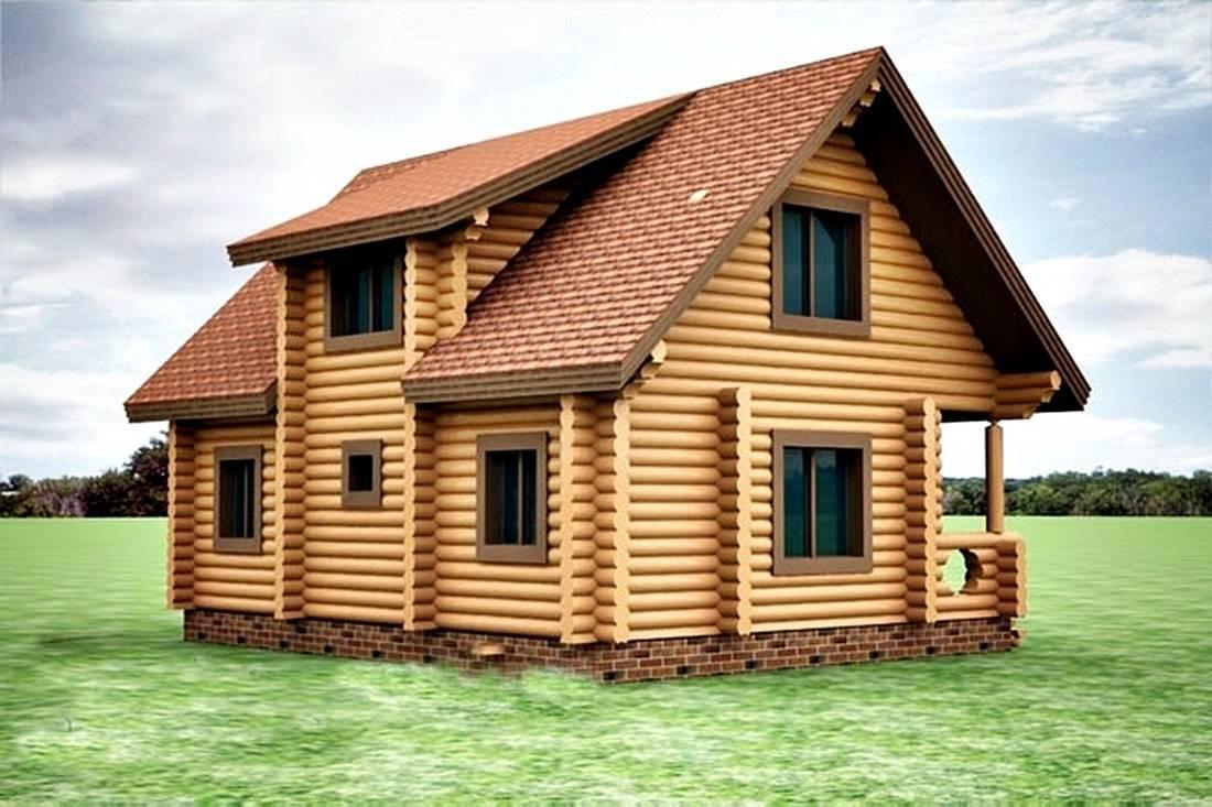 Дома из бревна с мансардой 6х6, 8х8, 9х9: видео-инструкция по монтажу своими руками, проекты, фото и цена