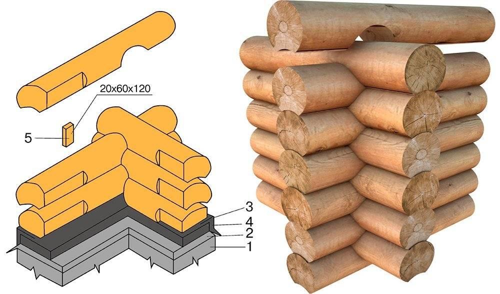 Фундамент для сруба. сборка сруба своим руками: окладной венец, разметка и рубка чаши | строй сам