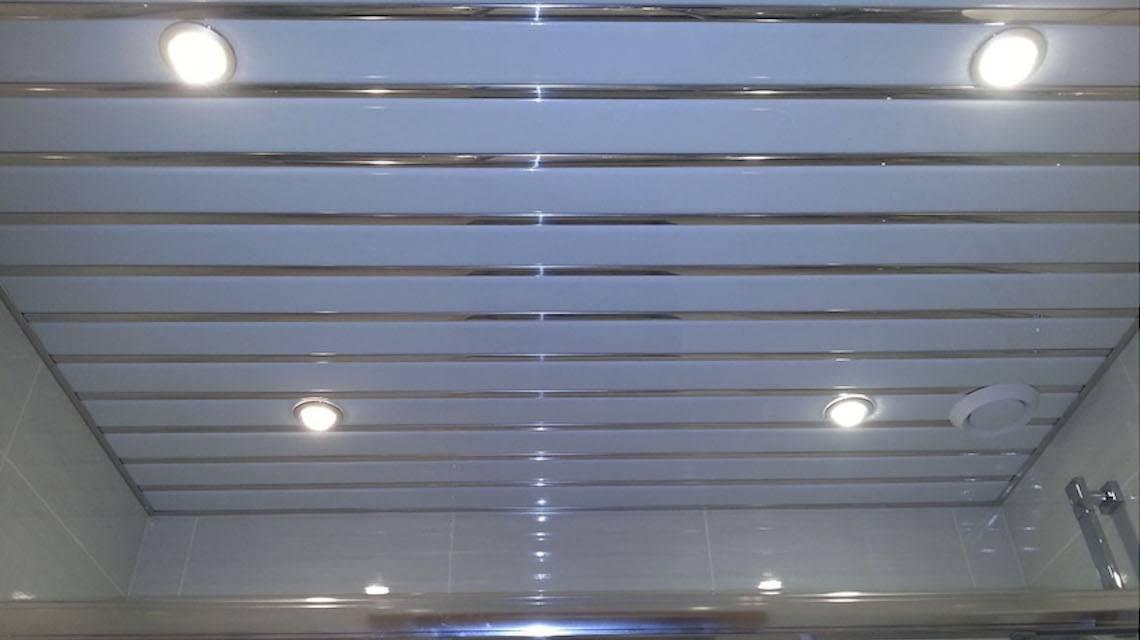 Алюминиевый реечный потолок в ванной комнате: установка своими руками