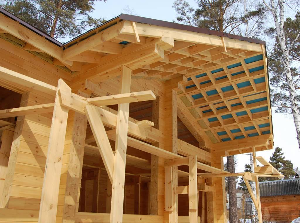 Этапы строительства дома из клееного бруса с баней