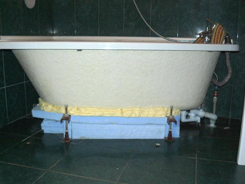 Установка акриловой ванны на ножки своими руками: пошаговая инструкция по монтажу