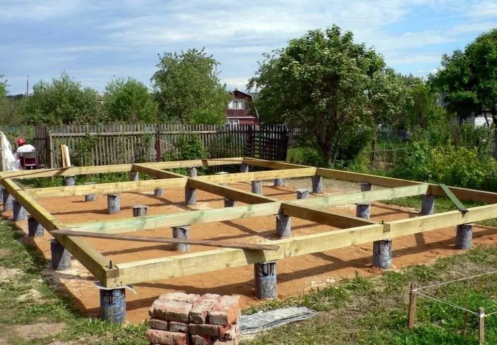 Устройство фундамента для бани: на винтовых сваях и столбчатого, бетонного ленточного и плитного фундаментов под баню, а также пола