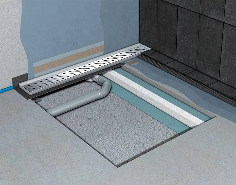 Сливной трап для душа в полу под плитку :установка своими руками