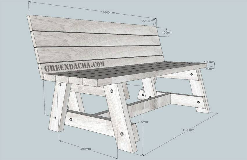 Как сделать скамейку: идеи и фото примеры