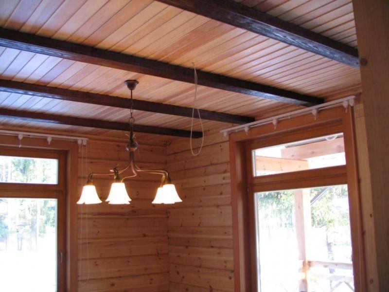 Способы отделки потолка в деревянном доме: способы, варианты, материалы