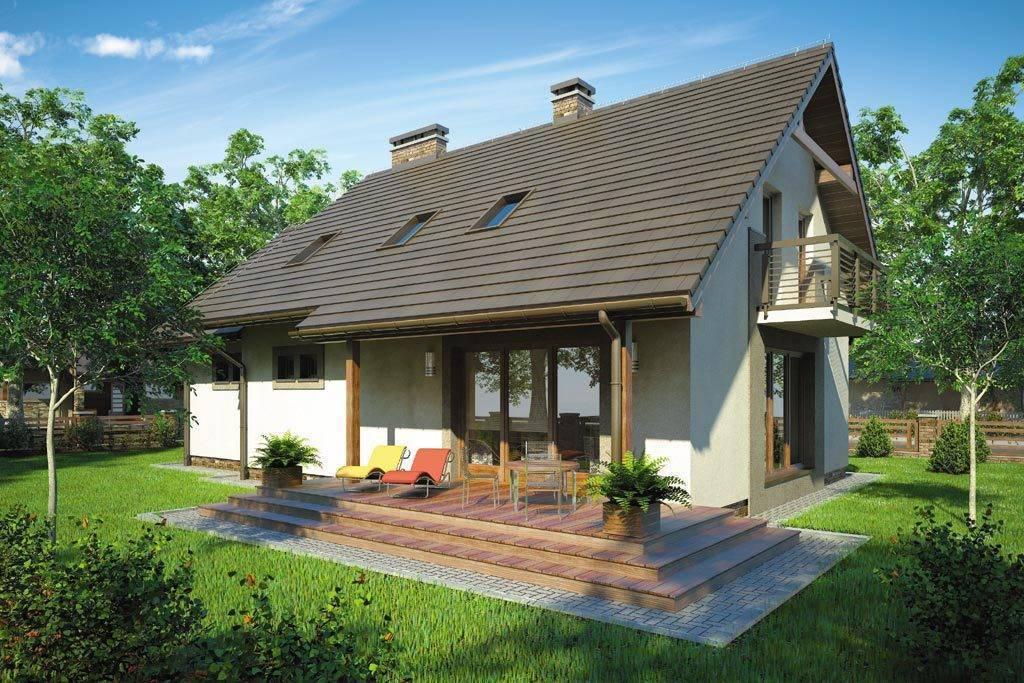 Дачные дома с верандой и мансардой: особенности их постройки и 50 фото-примеров