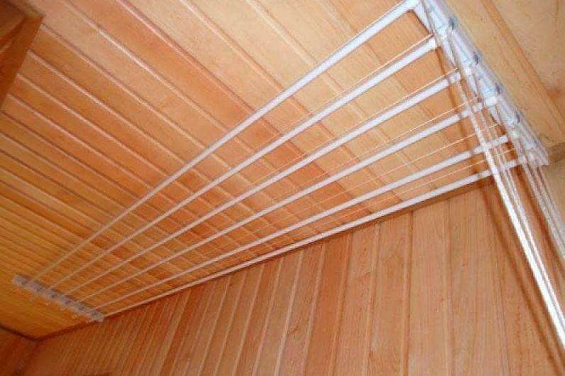 Потолочные сушилки для белья на балкон — 7 советов при выборе серийной модели и самодельный вариант