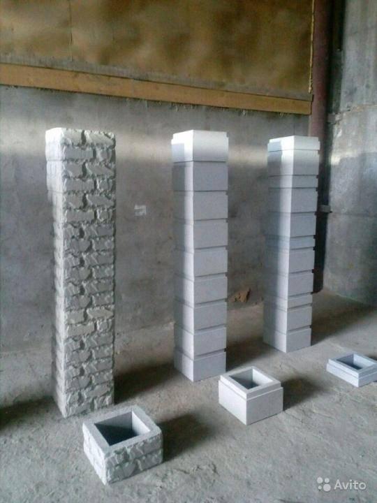 Наборные столбы для забора и бетонные блоки: формы и цена