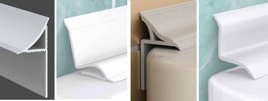 Керамический бордюр для ванной (уголок): установка, видео и фото