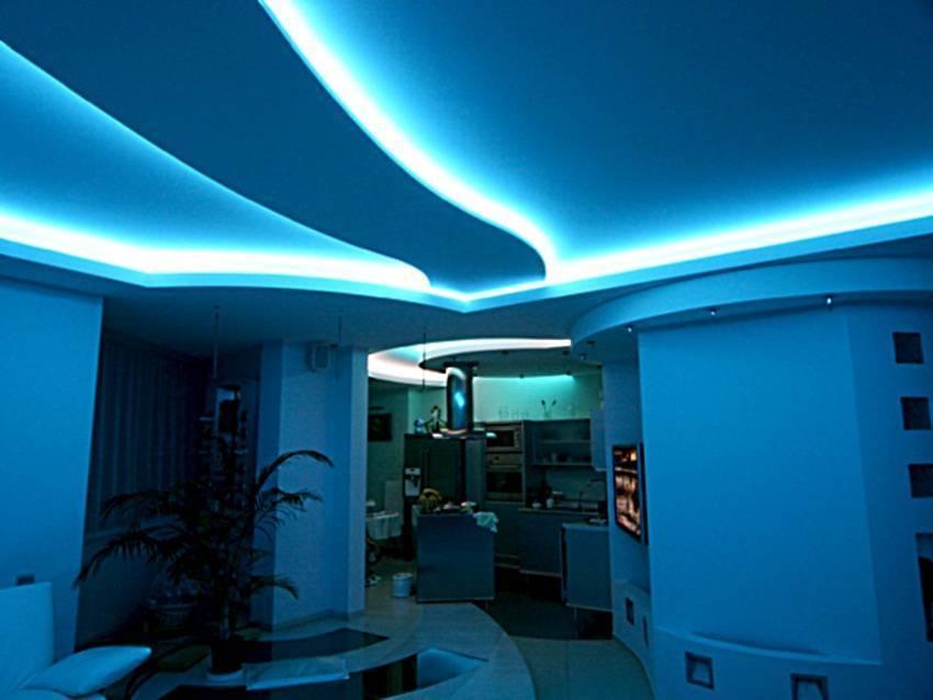 Особенности полупрозрачных натяжных потолков со светодиодной подсветкой