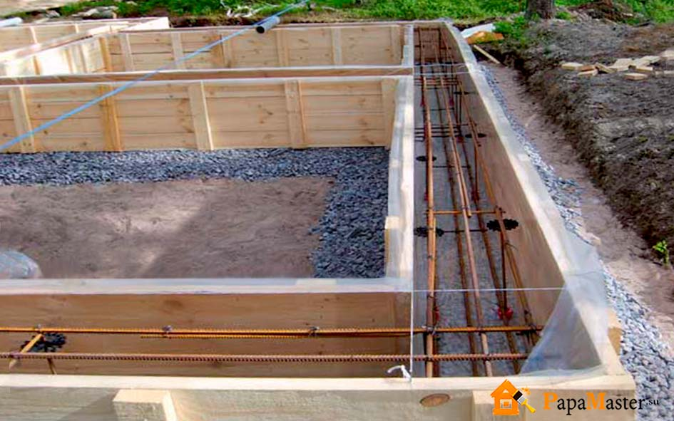 Мелкозаглубленный фундамент для дома из газобетона: выбор