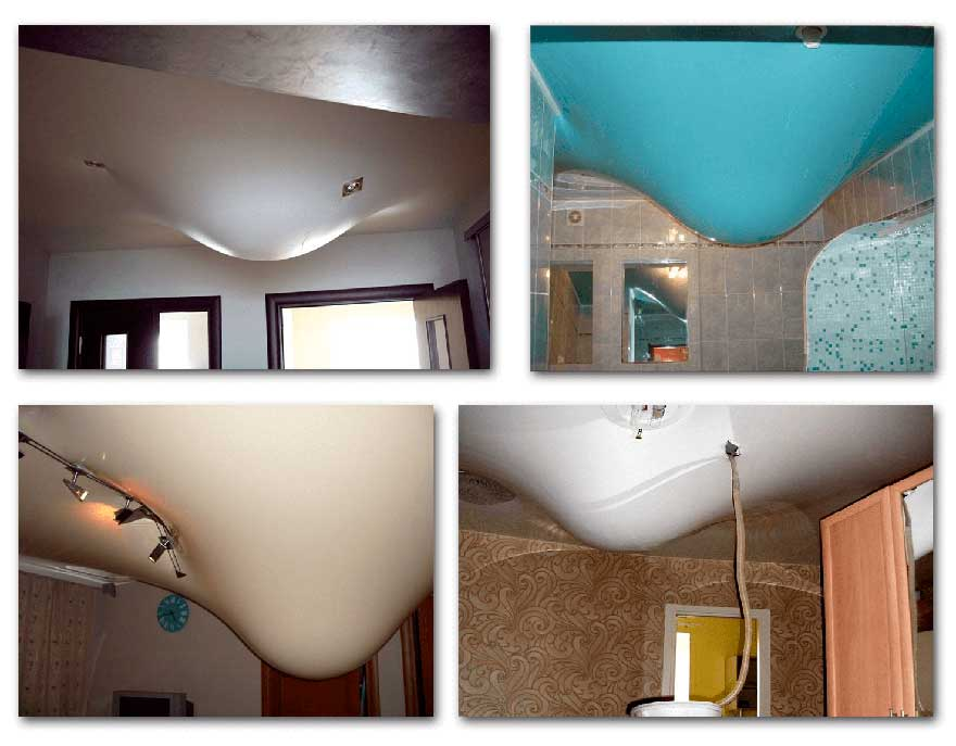 Как слить воду с натяжного потолка и самостоятельно его восстановить?