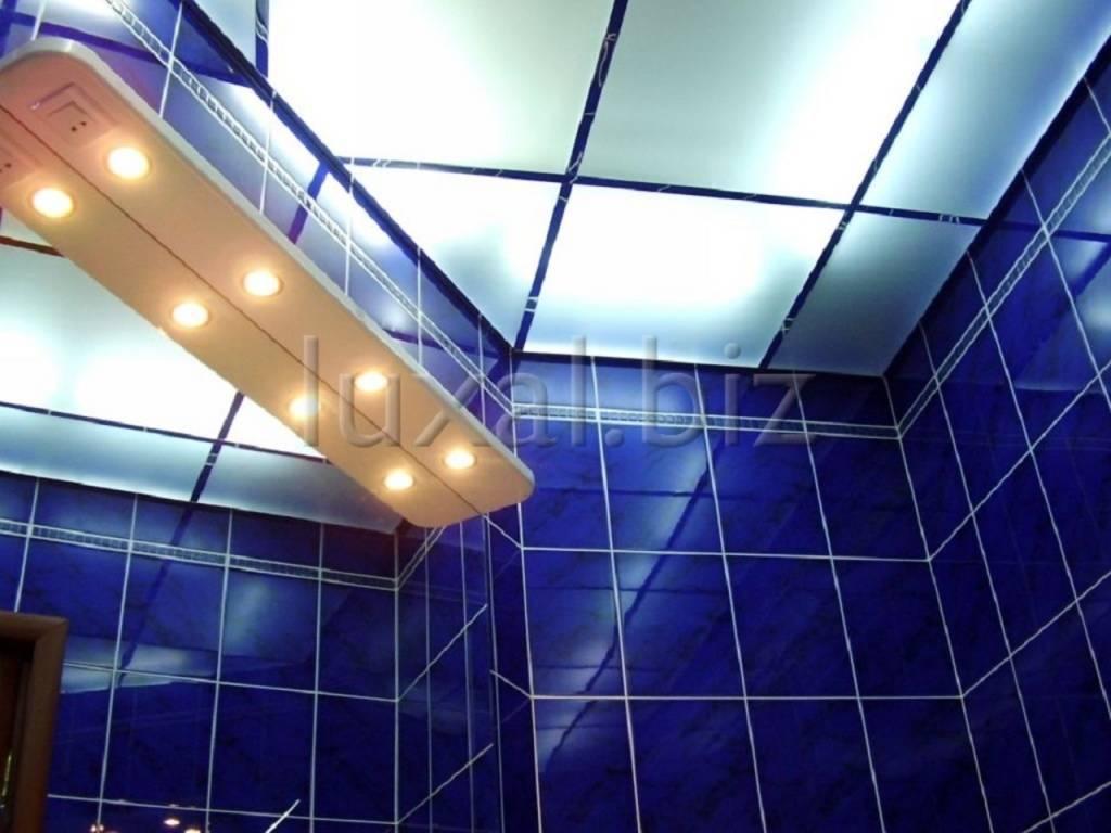 Как монтировать стеклянный подвесной потолок с подсветкой
