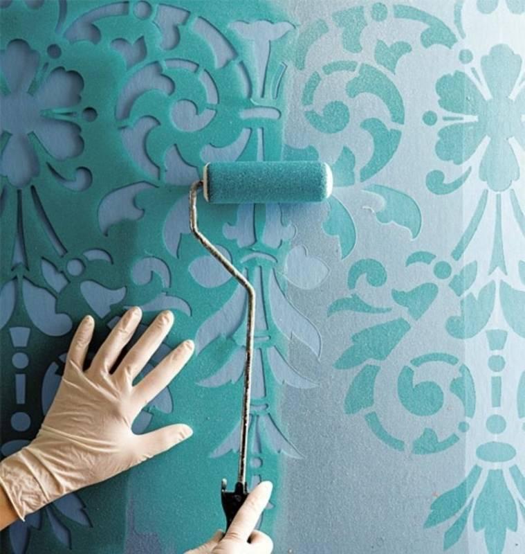 Трафареты для стен под покраску: шаблоны для распечатки