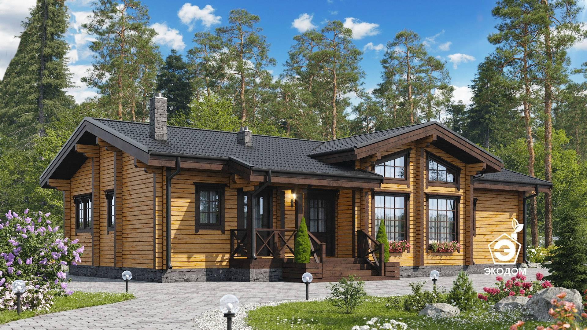 Дом из брус в стиле шале: фото, проекты
