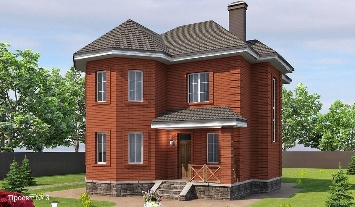Красивые проекты двухэтажных домов из кирпича