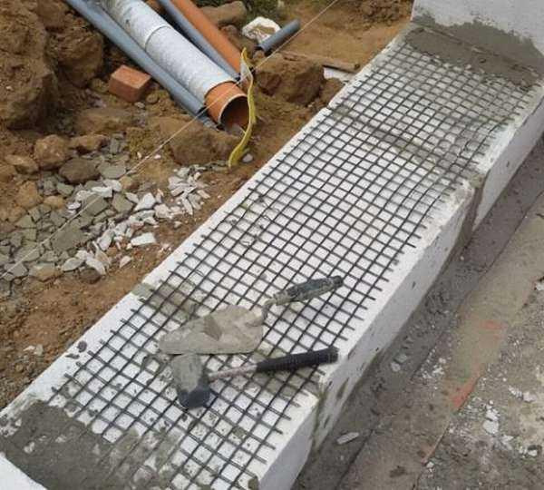 Армирование кладки из газосиликатных блоков