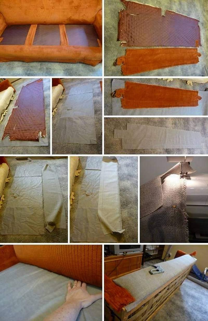 Переобивка дивана своими руками: пошаговая инструкция