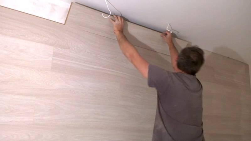 Очень оригинальная отделка или ламинат на потолке: 2 технологии монтажа