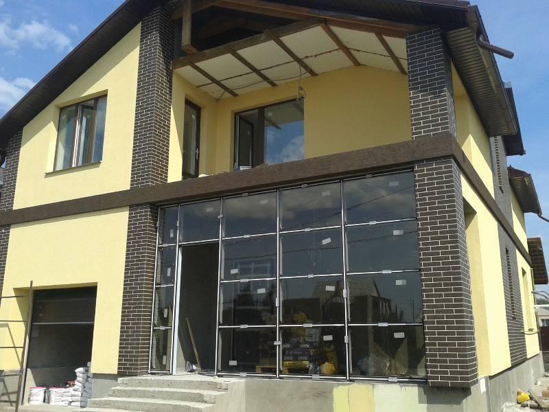 Сочетание клинкера и штукатурки на фасаде . клинкерная плитка и штукатурка на фасаде как оформить на roof-n-roll.ru