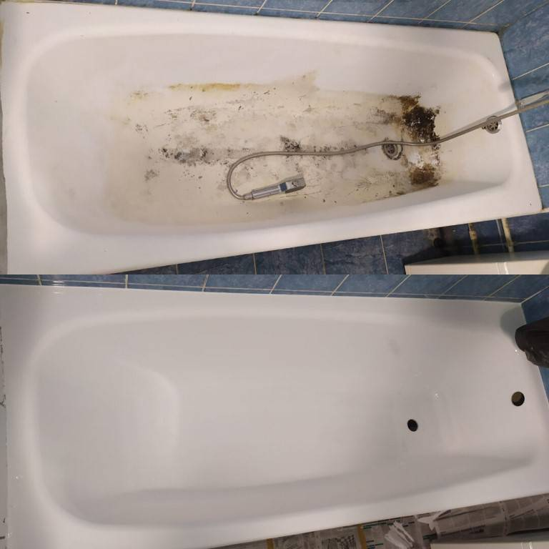 Реставрация чугунной ванны своими руками: эмалировка жидким акрилом (+ видео)