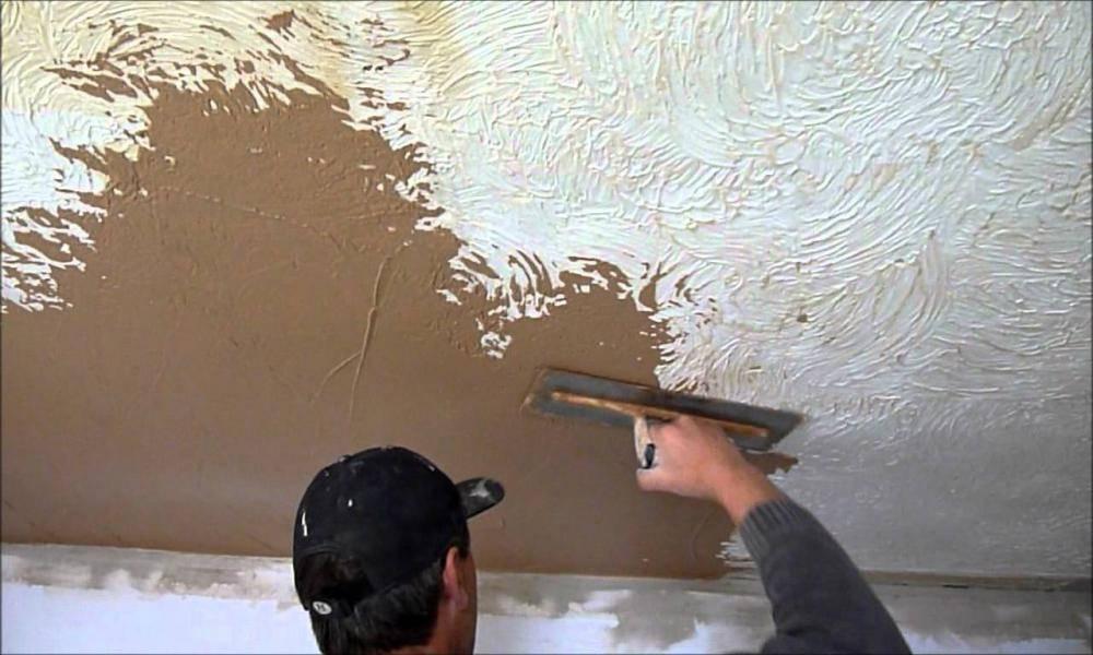 Штукатурка потолка - как оштукатурить потолок своими руками
