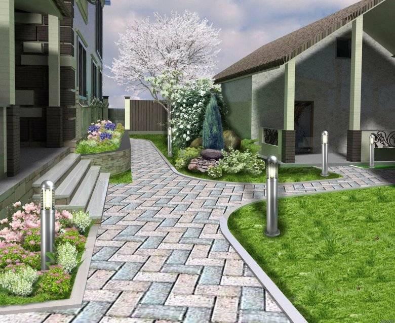 Как украсить двор частного дома своими руками: фото лучших идей и их воплощение