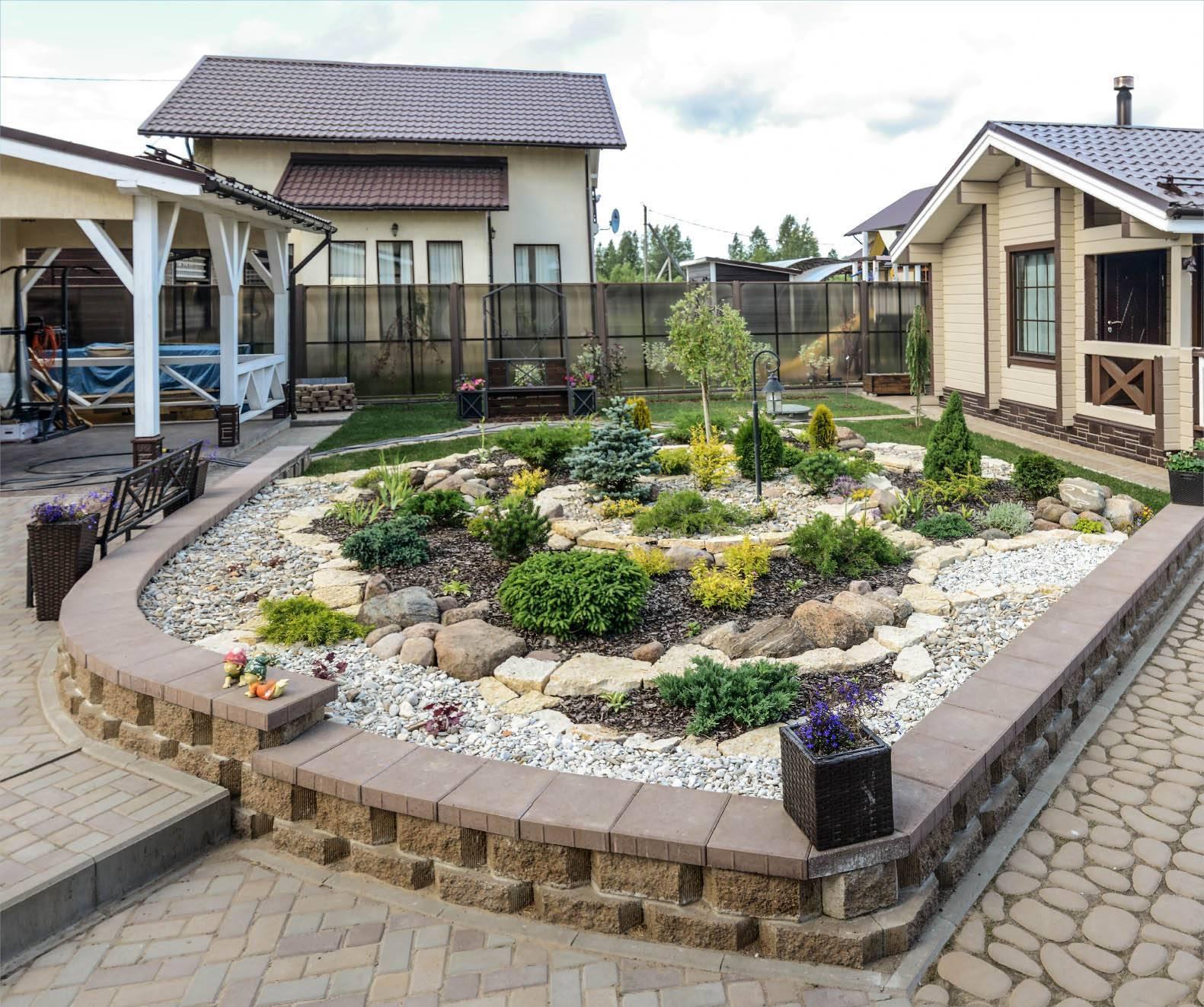 Поэтапно оформляем ландшафтный дизайн двора частного дома