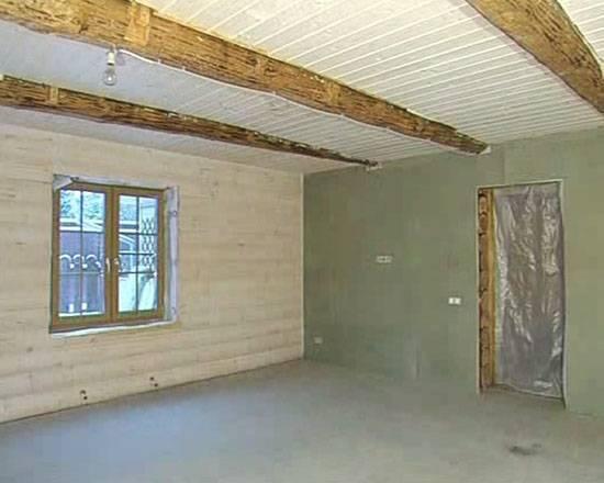 ????чем покрасить деревянный потолок в доме и стоимость м2 покраски - блог о строительстве