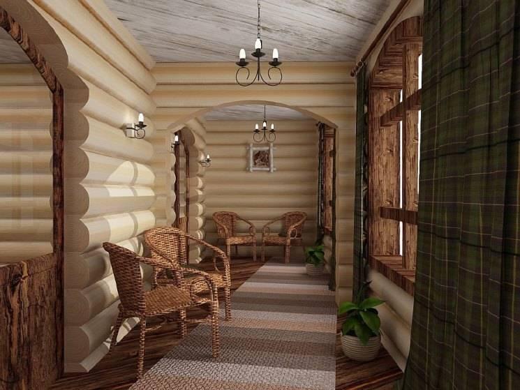 Кухня в бревенчатом доме (45 фото): интерьер комнаты в жилище из оцилиндрованного бревна, дизайн кухни-гостиной в деревянном коттедже
