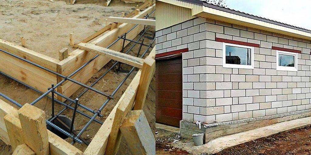 Как правильно построить своими руками гараж из пеноблоков? этапы строительства, расчет, чертежи и фото