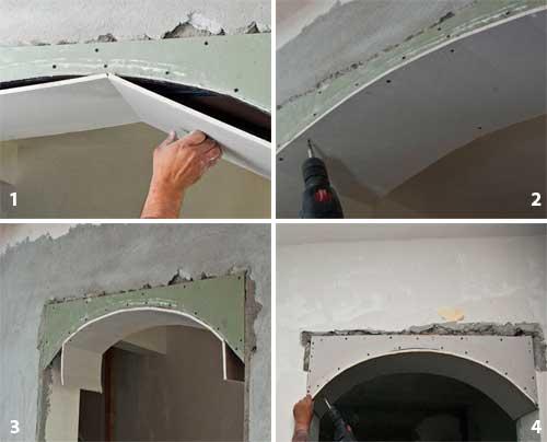 Как сделать арку из гипсокартона — межкомнатные варианты и пошаговое описание как построить арку своими руками (105 фото и видео)