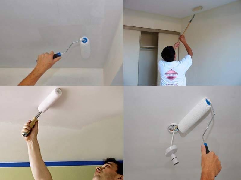 Подготовка потолка к покраске водоэмульсионной краской своими руками